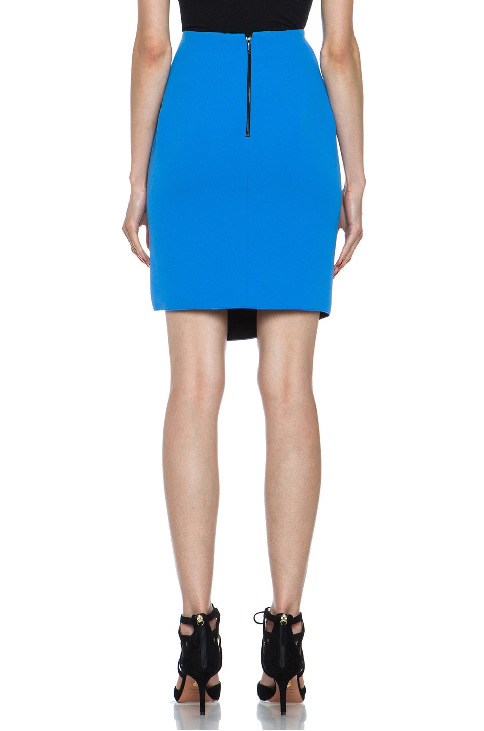 Image 4 of Dion Lee Bonded Crepe Skirt in Blue & Black