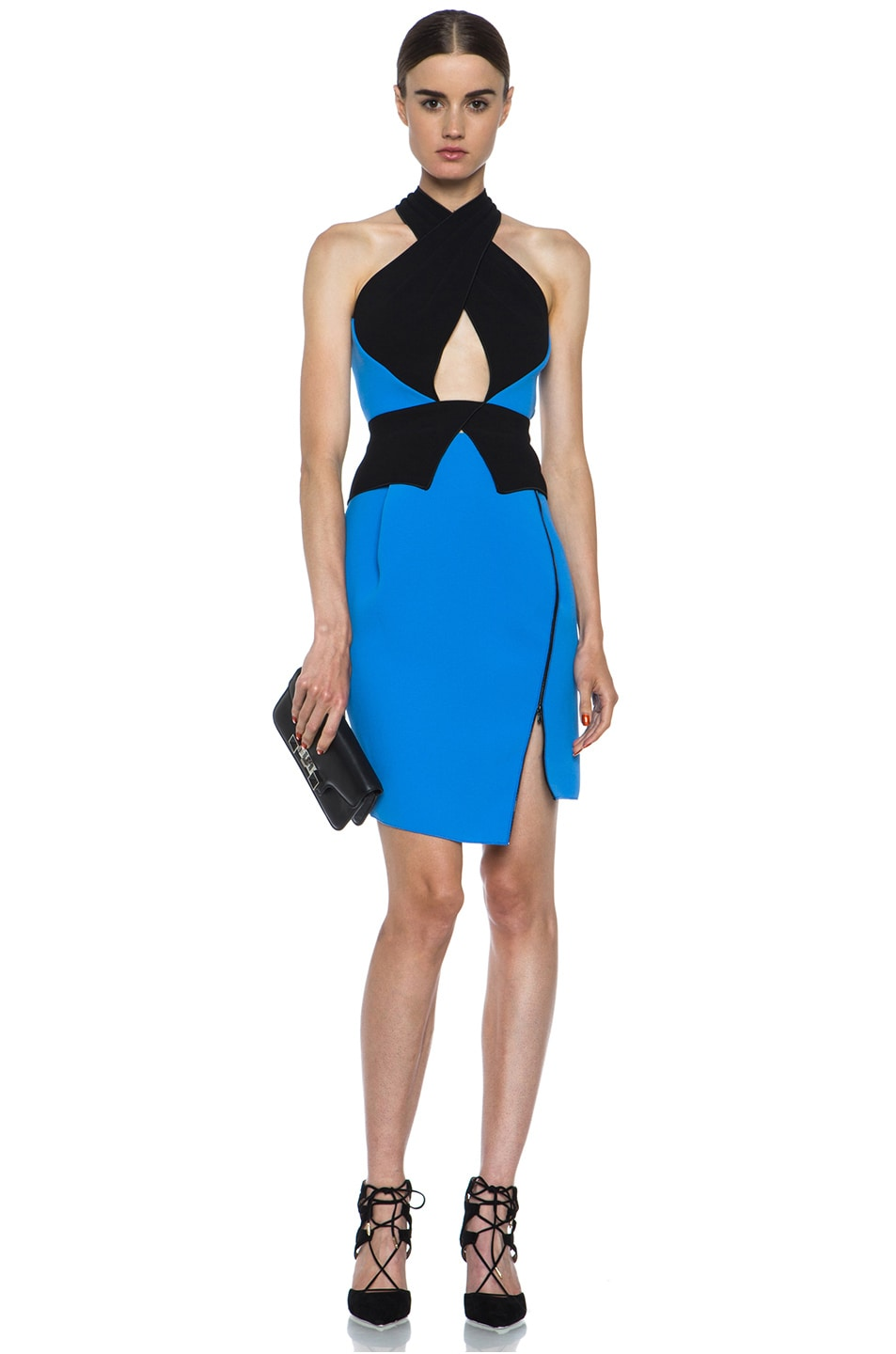 Image 5 of Dion Lee Bonded Crepe Skirt in Blue & Black