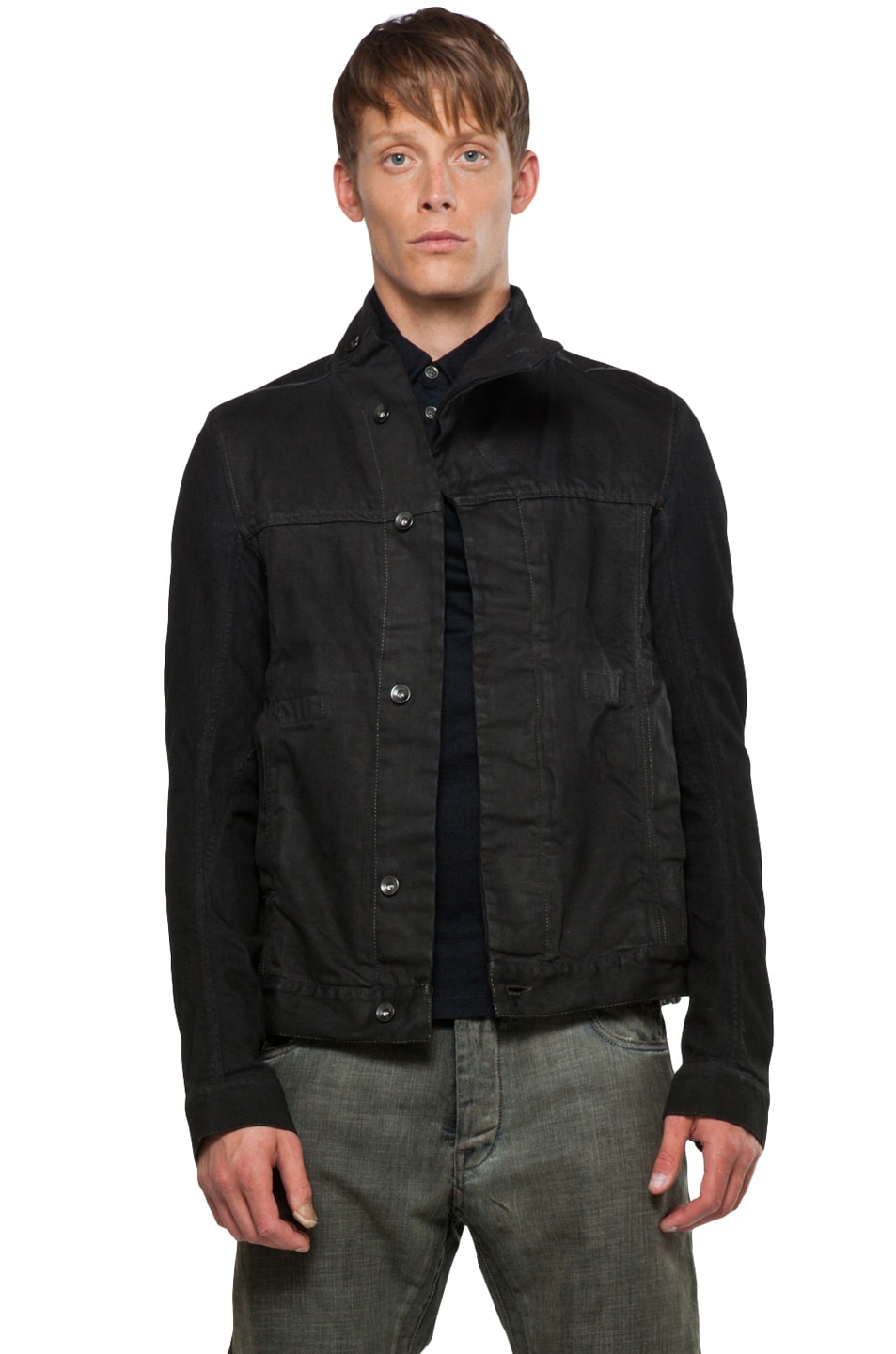 Image 1 of DRKSHDW by Rick Owens Slave Jacket in Black