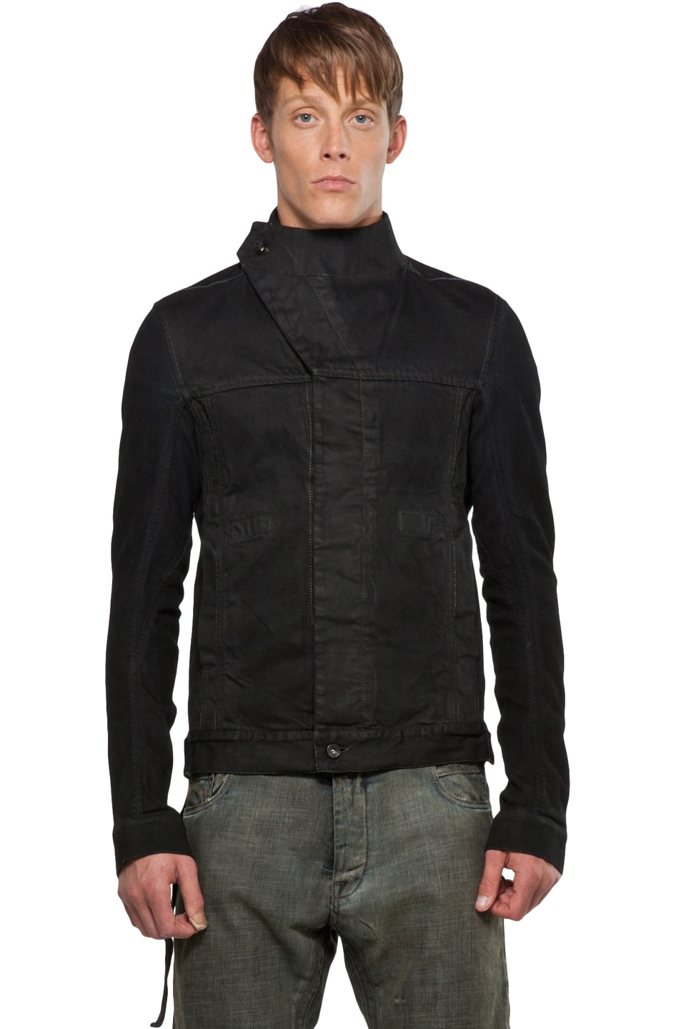 Image 2 of DRKSHDW by Rick Owens Slave Jacket in Black