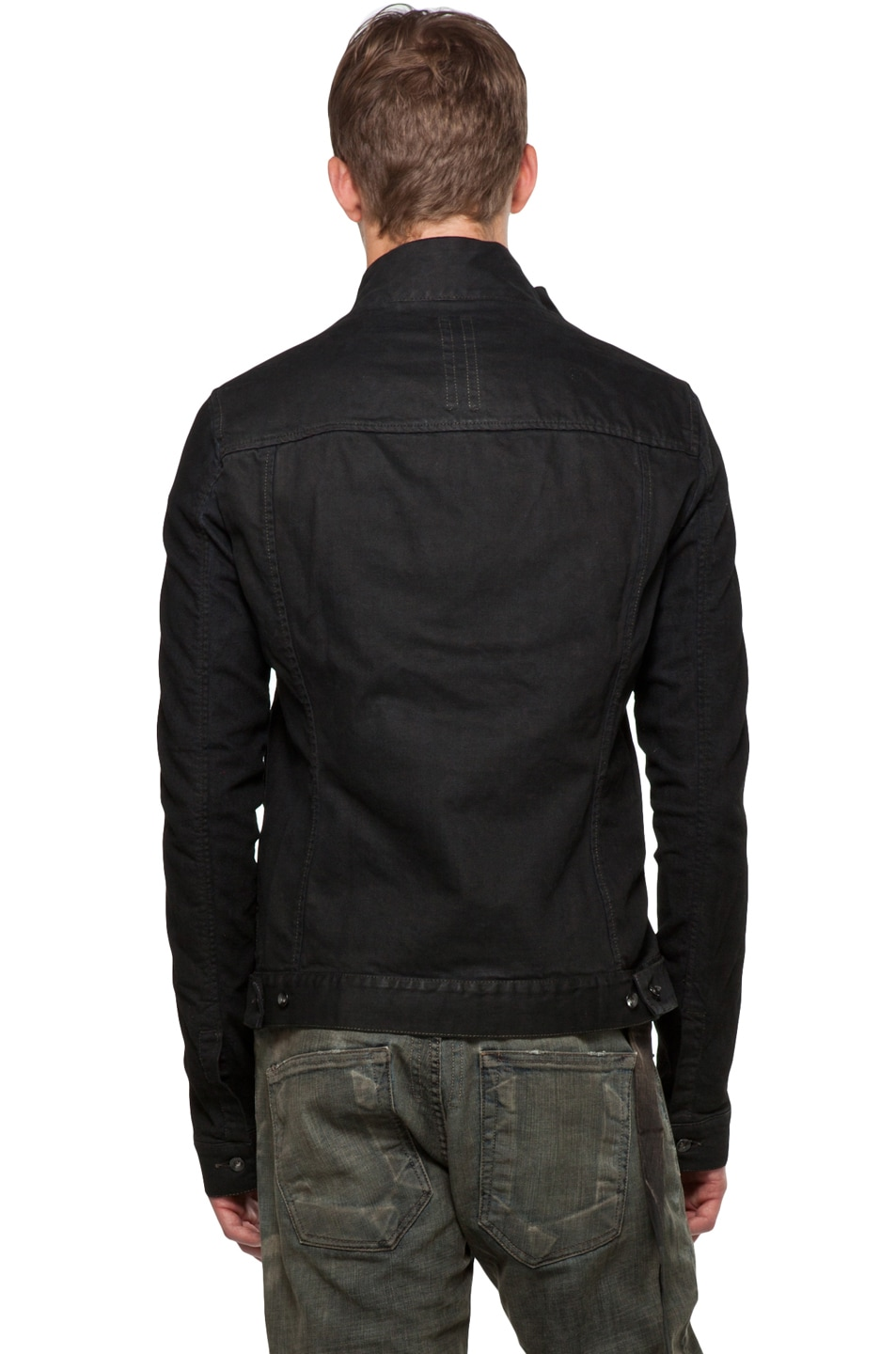 Image 5 of DRKSHDW by Rick Owens Slave Jacket in Black