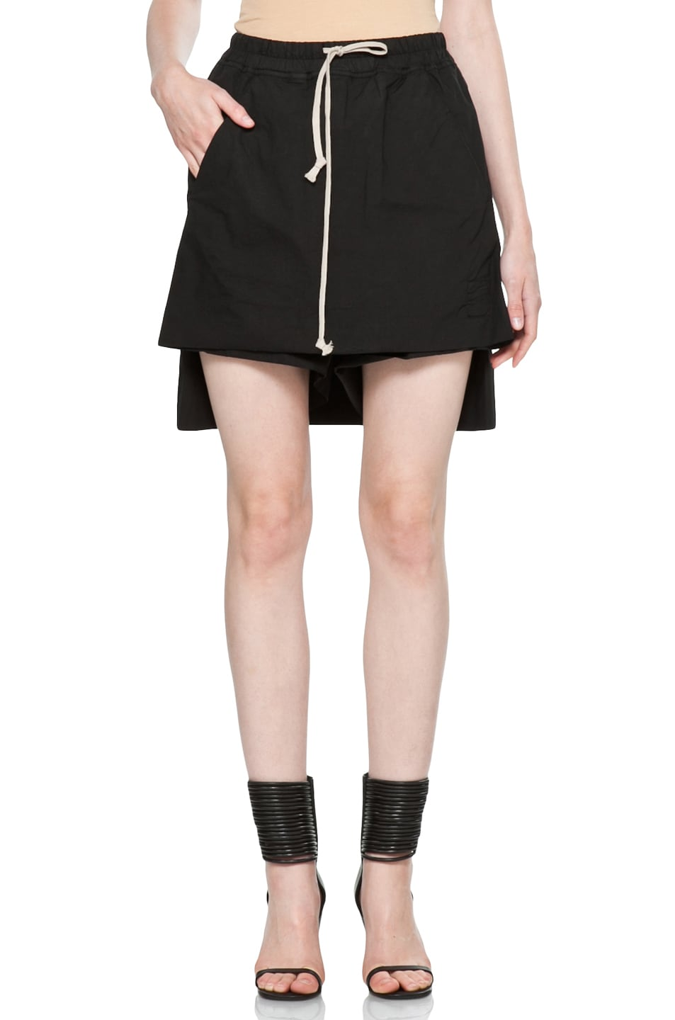 Image 1 of DRKSHDW by Rick Owens Popelin Stretch POD Shorts in Black