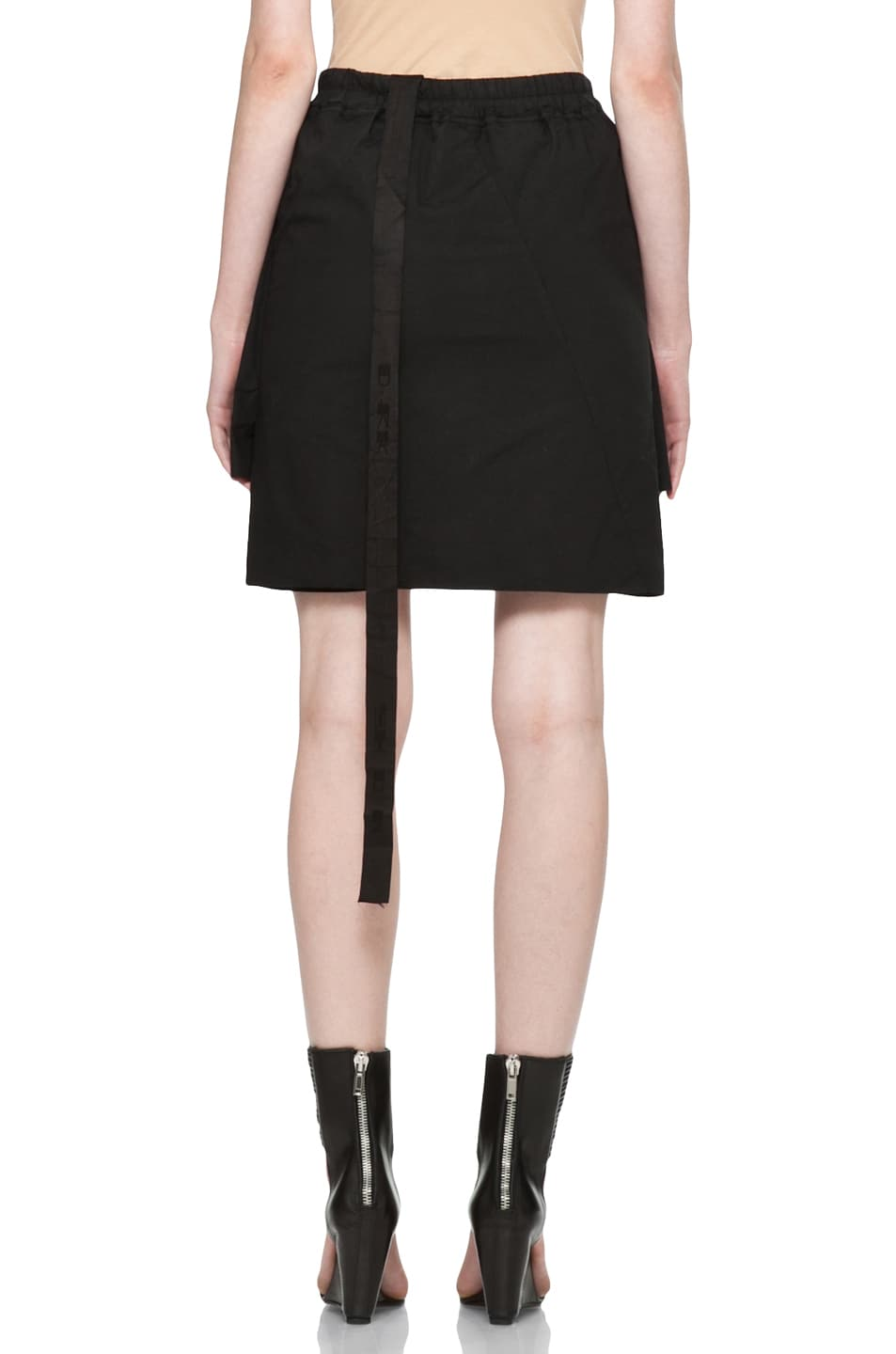 Image 4 of DRKSHDW by Rick Owens Popelin Stretch POD Shorts in Black