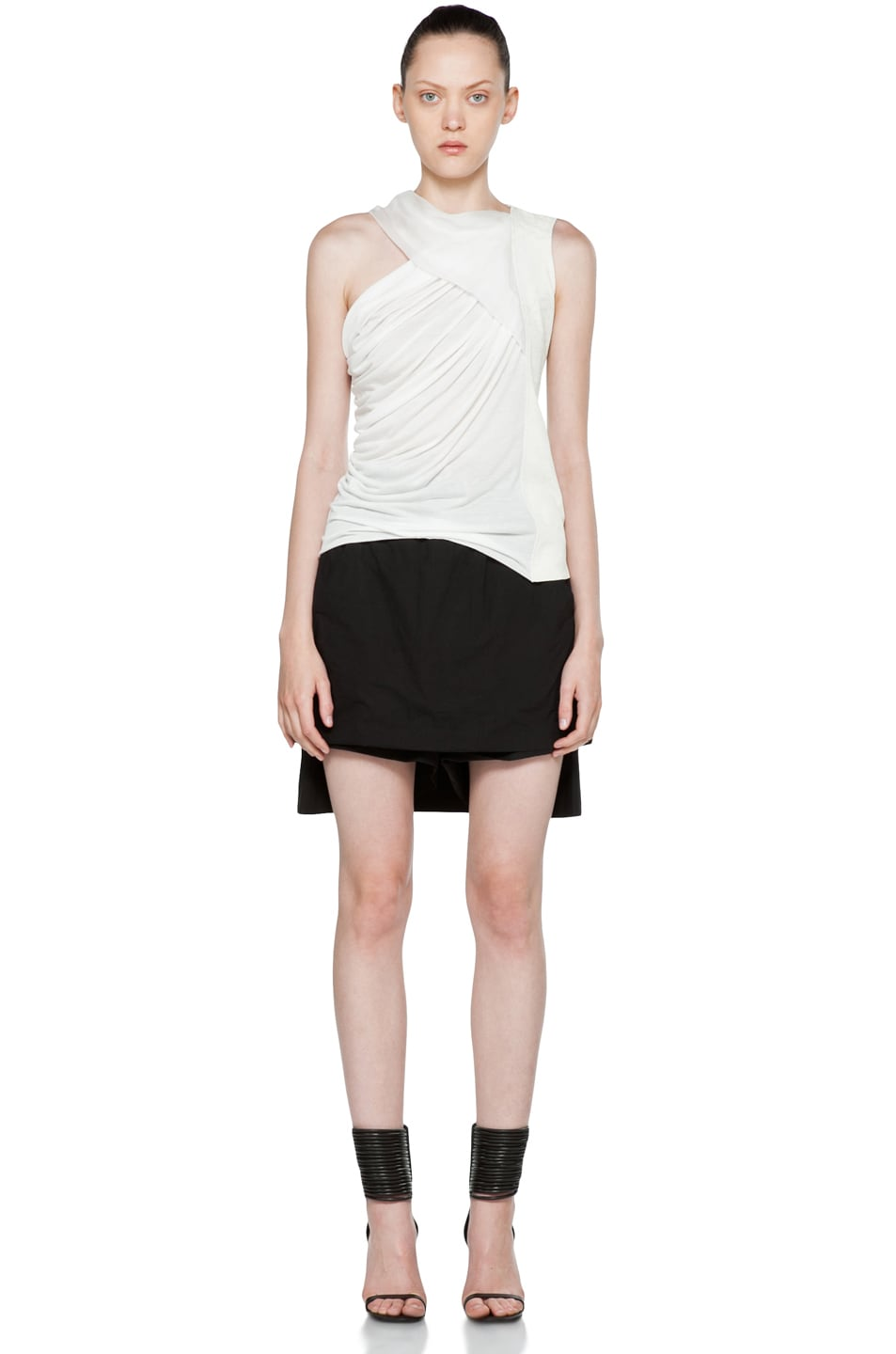 Image 5 of DRKSHDW by Rick Owens Popelin Stretch POD Shorts in Black