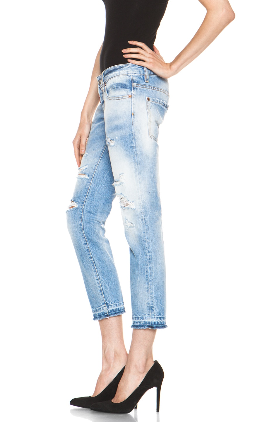 Image 2 of DSQUARED Slim Cropped Jean in Blue