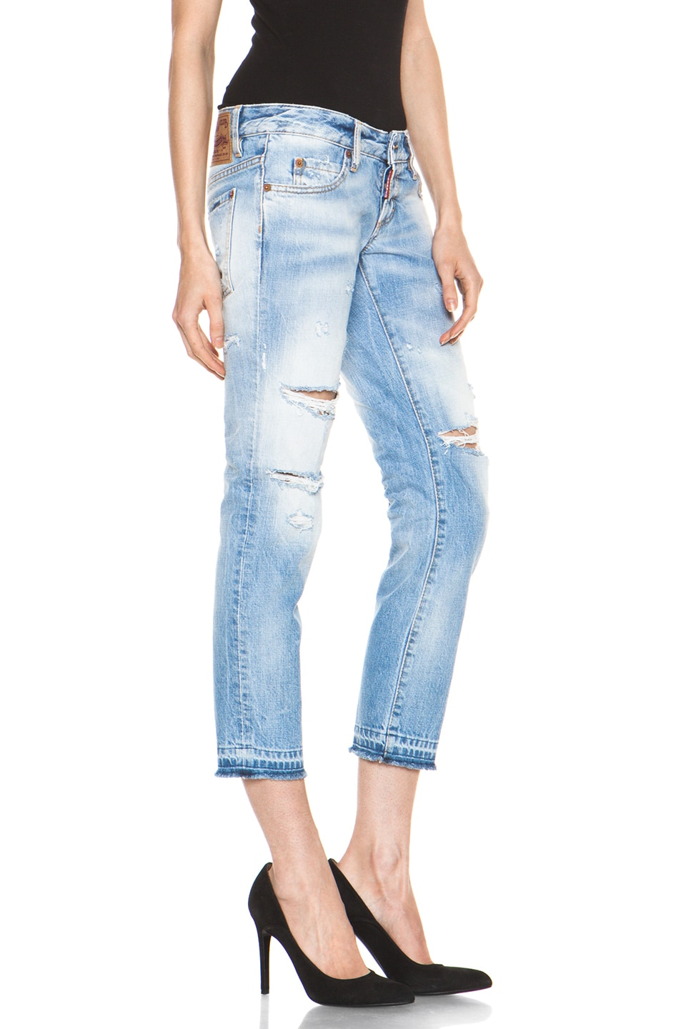 Image 3 of DSQUARED Slim Cropped Jean in Blue