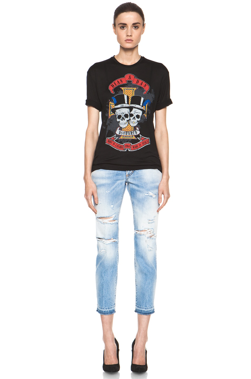 Image 5 of DSQUARED Slim Cropped Jean in Blue