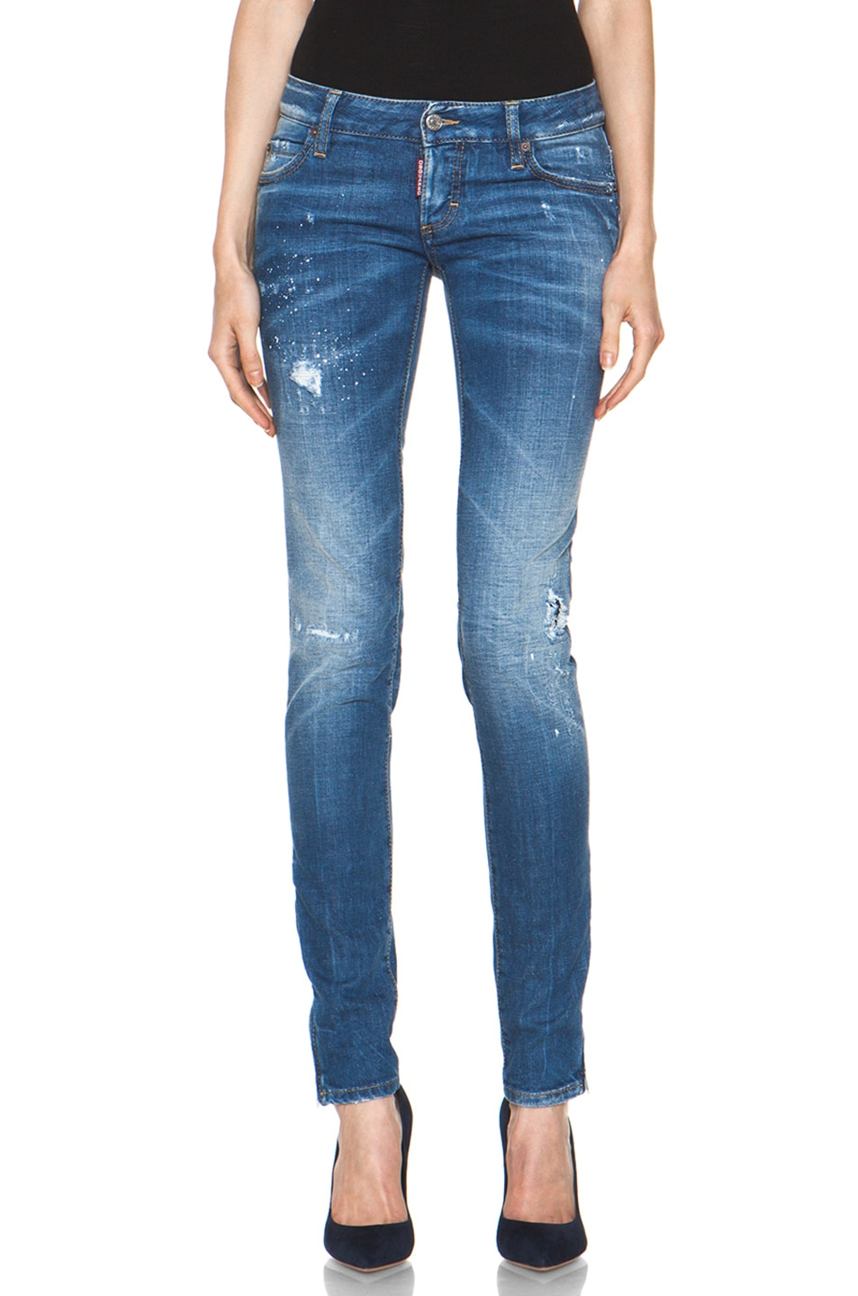 Image 1 of DSQUARED Super Slim Jean in Blue