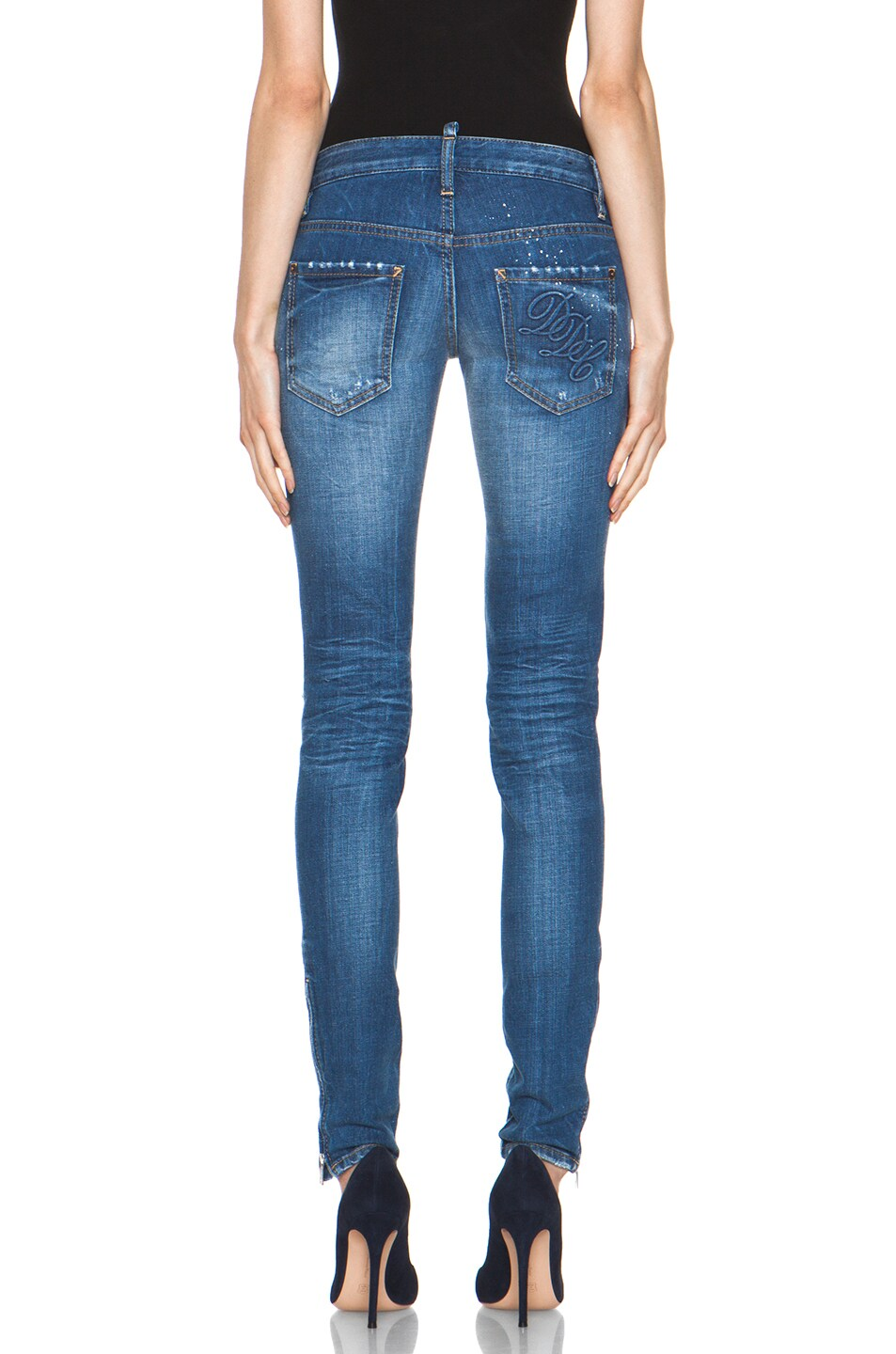 Image 4 of DSQUARED Super Slim Jean in Blue