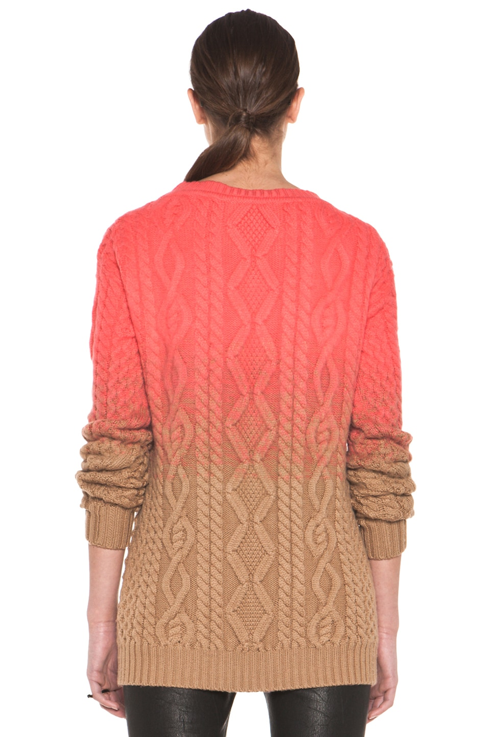 Image 4 of DSQUARED Chunky Knit Pullover in Coral