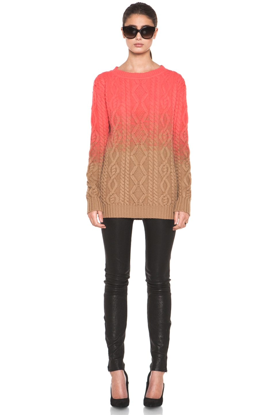 Image 5 of DSQUARED Chunky Knit Pullover in Coral
