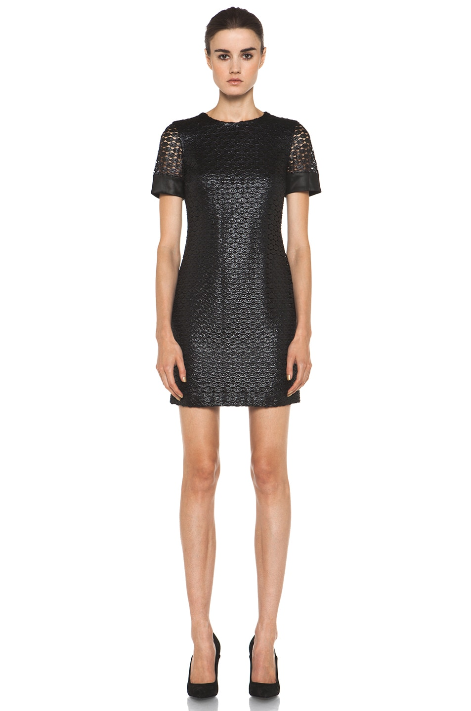Image 1 of Diane von Furstenberg New Cindy Lace Dress in Black