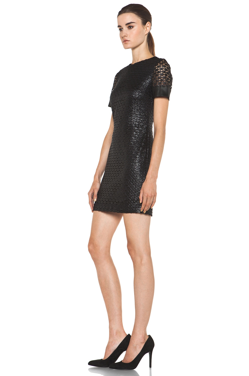 Image 2 of Diane von Furstenberg New Cindy Lace Dress in Black