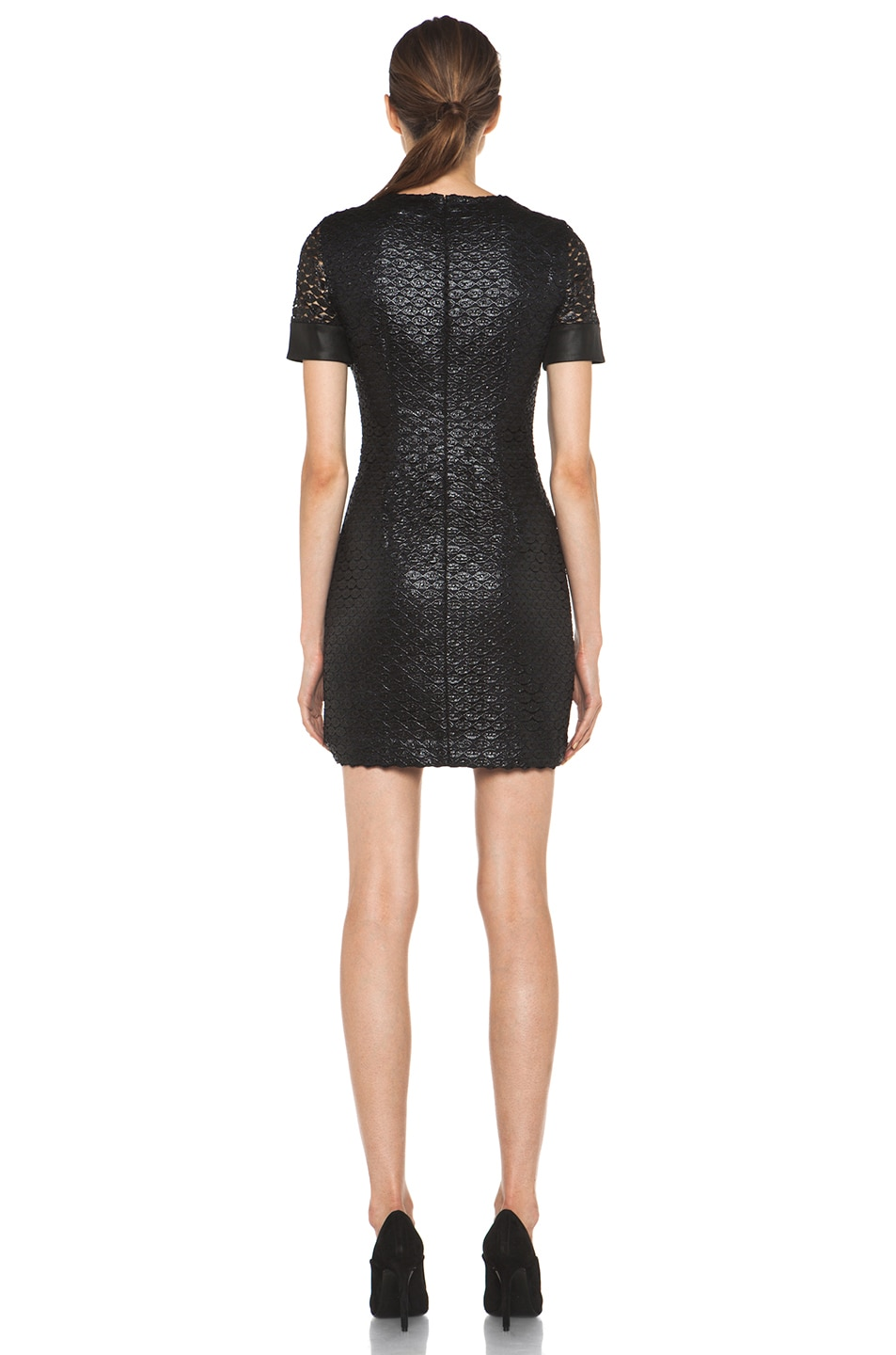 Image 4 of Diane von Furstenberg New Cindy Lace Dress in Black