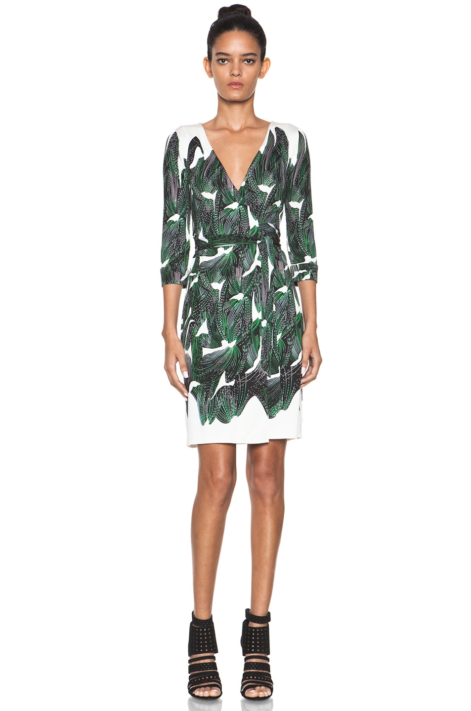 Image 1 of Diane von Furstenberg New Julian Two Dress in Vine Placement