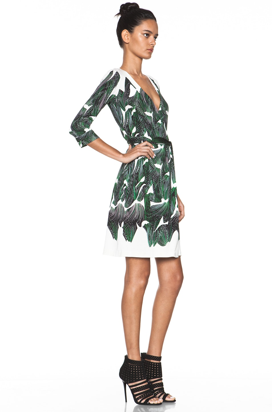 Image 3 of Diane von Furstenberg New Julian Two Dress in Vine Placement