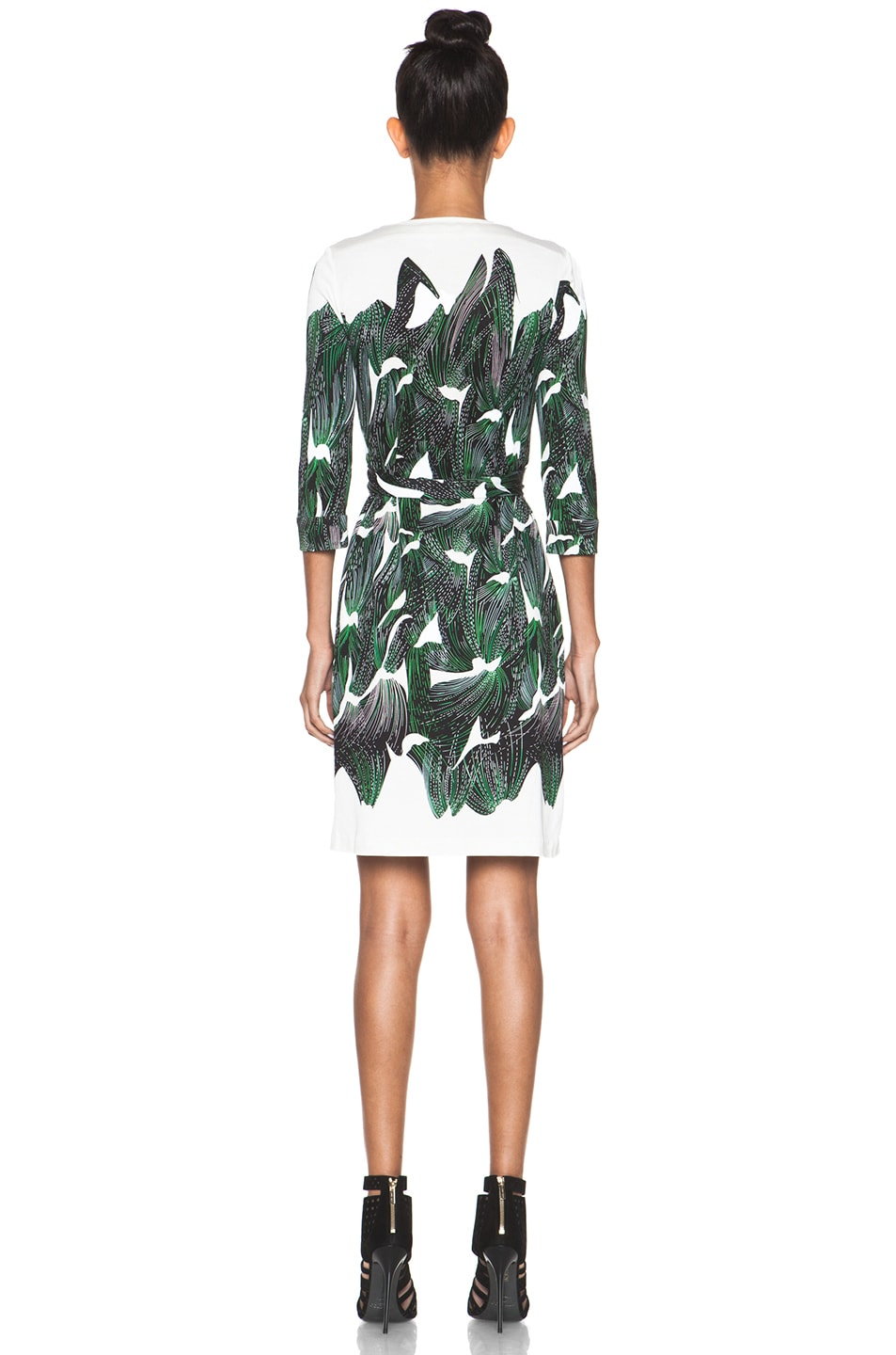 Image 4 of Diane von Furstenberg New Julian Two Dress in Vine Placement