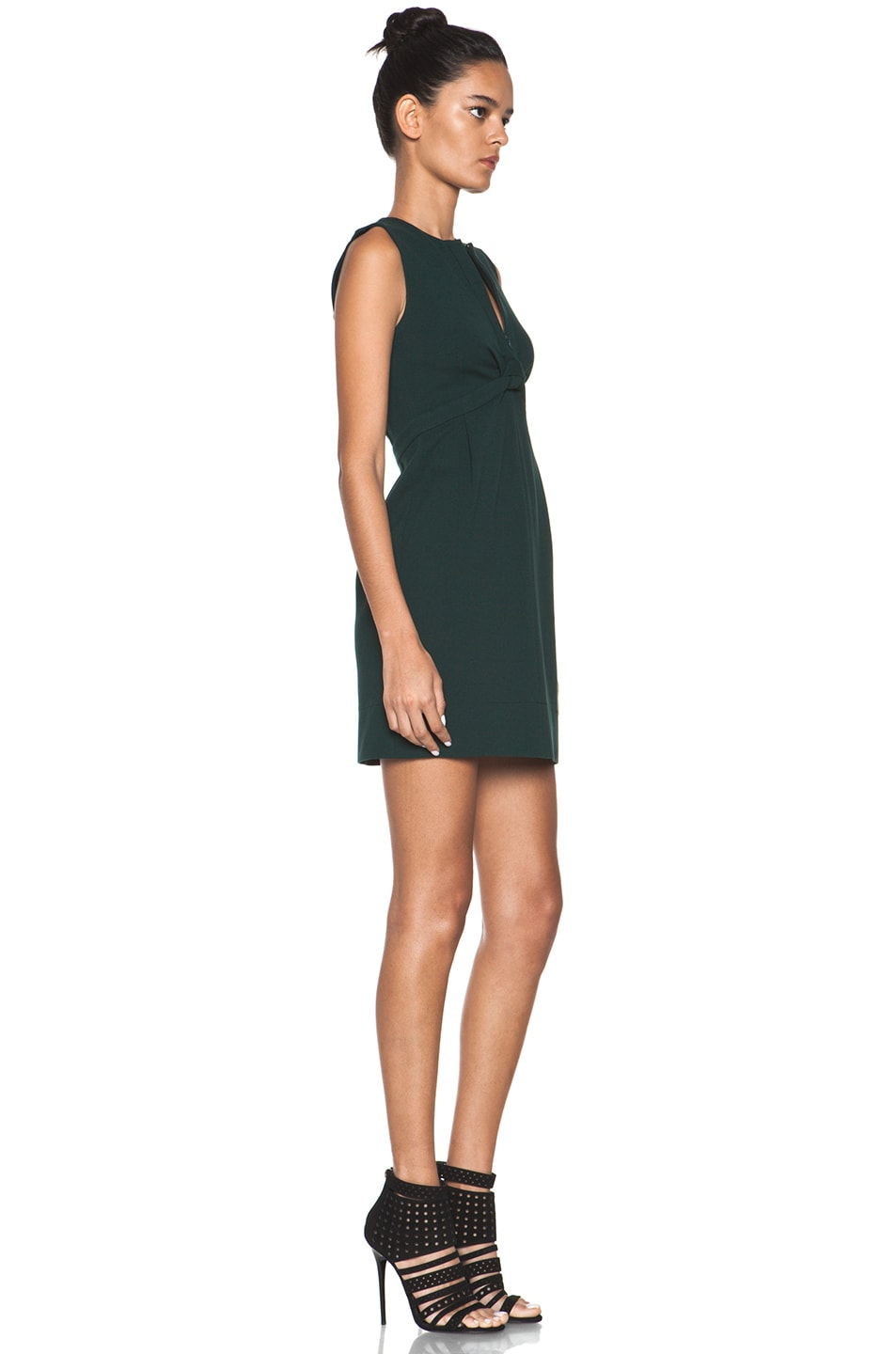 Image 3 of Diane von Furstenberg Savri Dress in Mallard Green