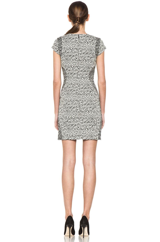 Image 4 of Diane von Furstenberg Pele Snake Wave Jacquard Dress in Cream & Black
