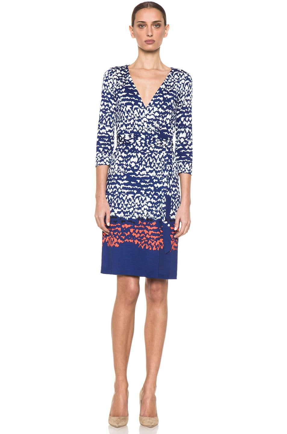 Image 1 of Diane von Furstenberg New Julian Two Dress in Scribble Lines Placement