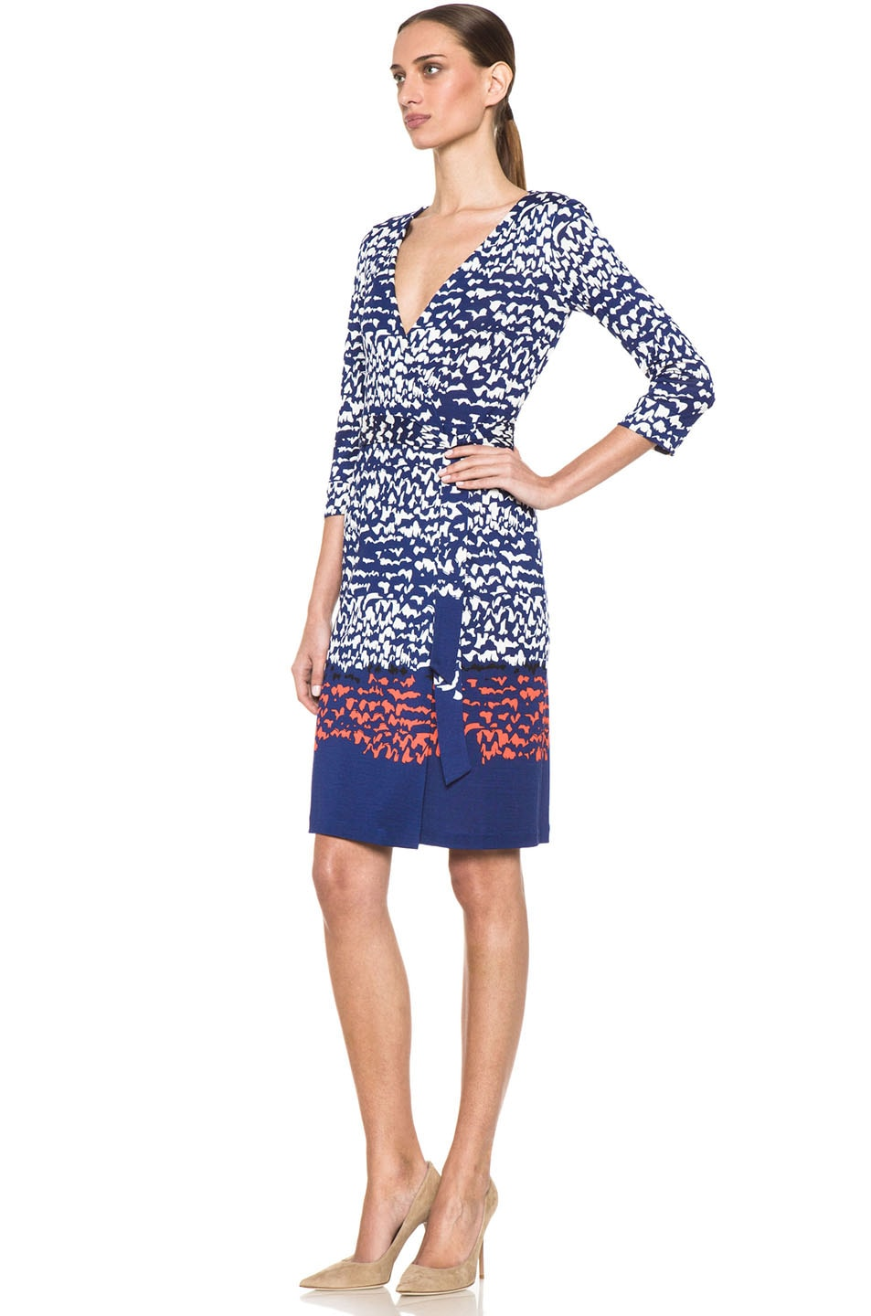 Image 2 of Diane von Furstenberg New Julian Two Dress in Scribble Lines Placement