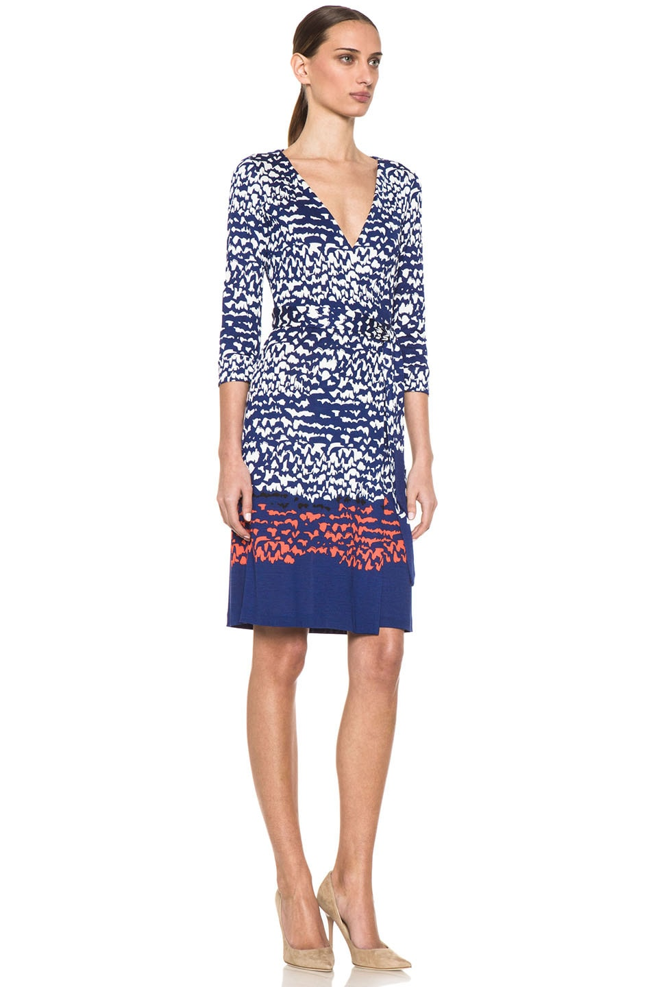 Image 3 of Diane von Furstenberg New Julian Two Dress in Scribble Lines Placement