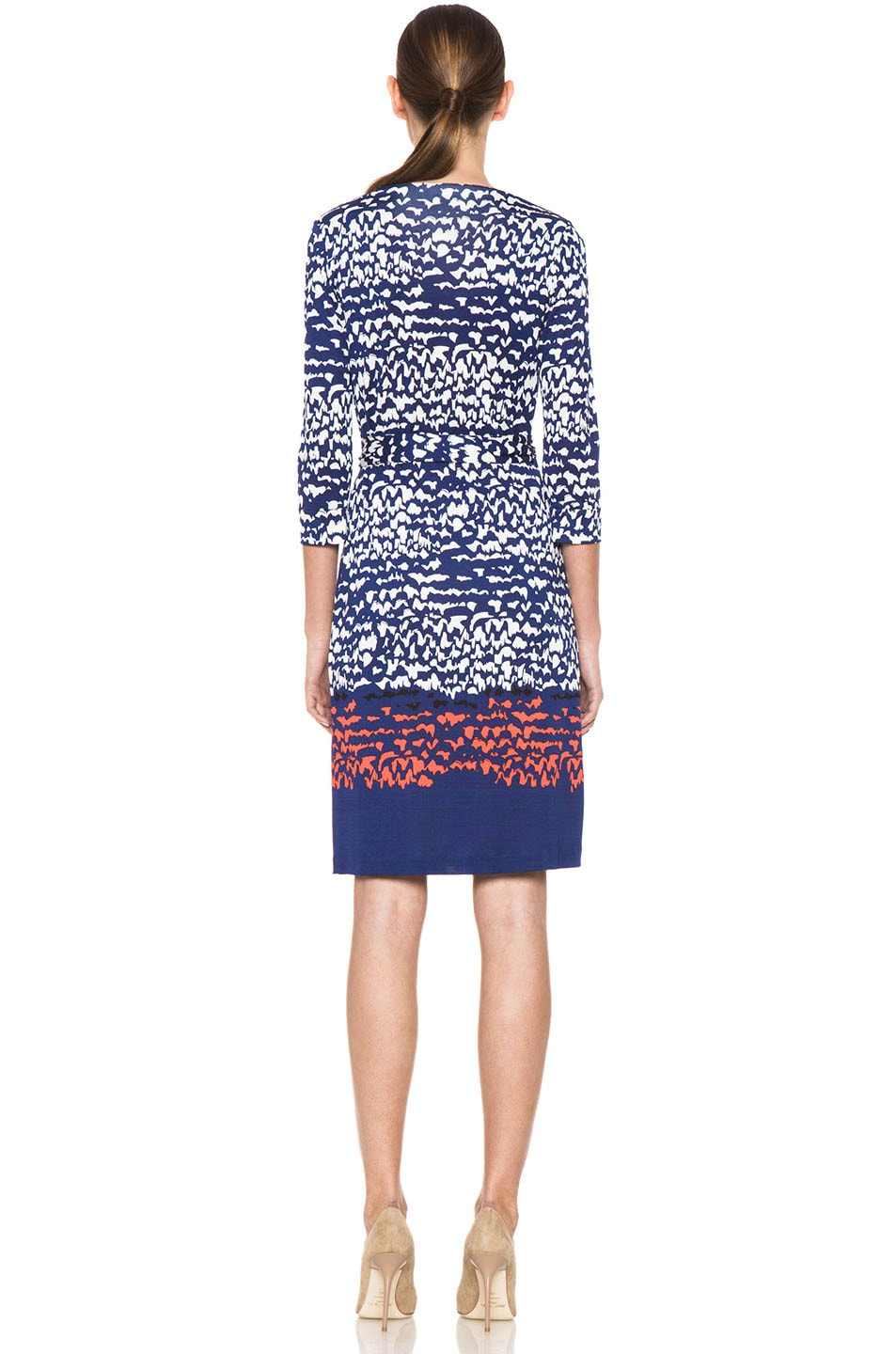 Image 4 of Diane von Furstenberg New Julian Two Dress in Scribble Lines Placement