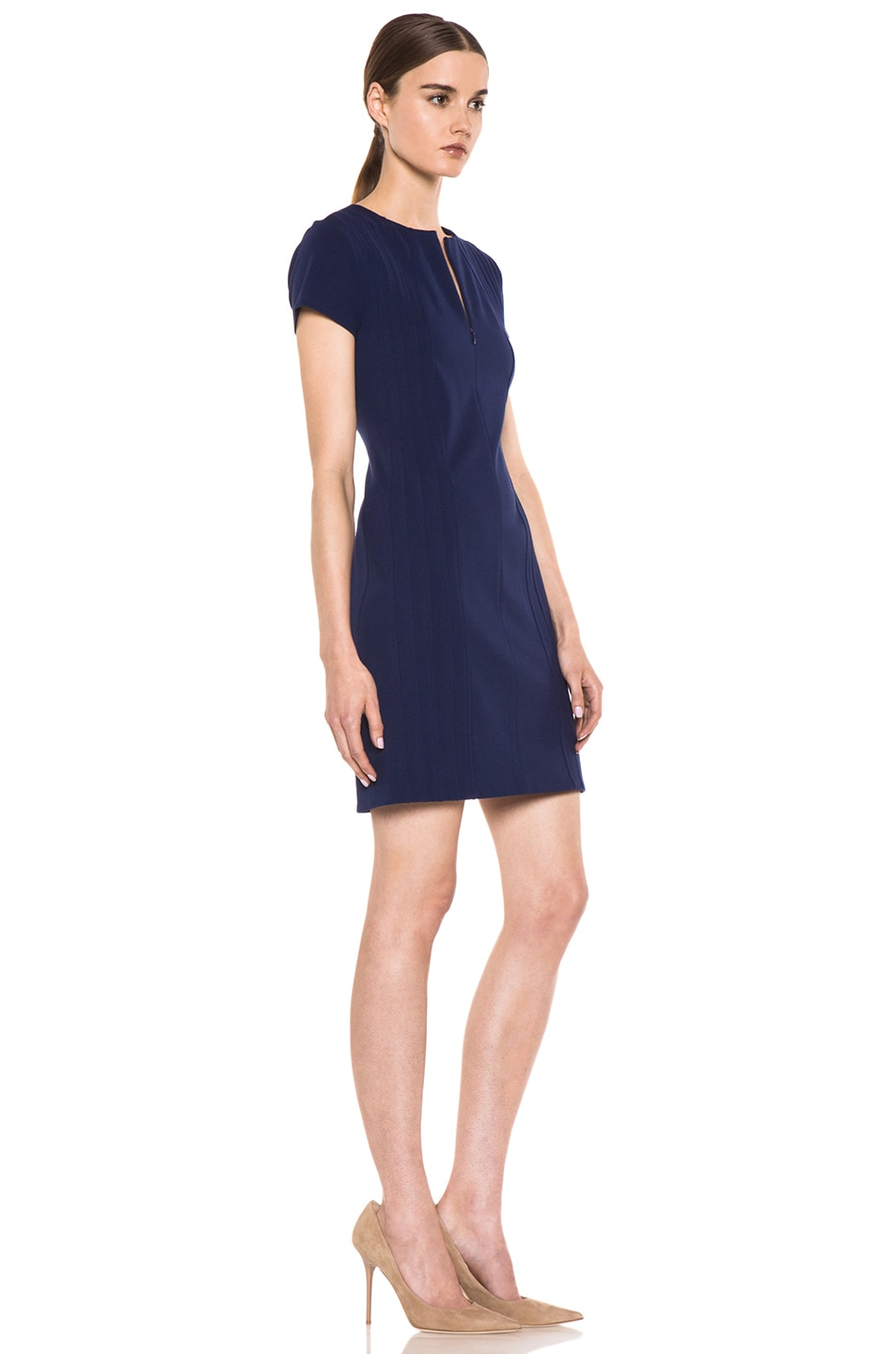 Image 4 of Diane von Furstenberg Kaelyn Dress in Deep Sapphire