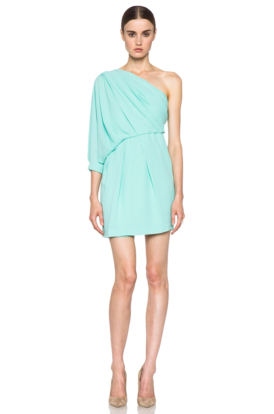 Image 1 of Diane von Furstenberg Akela Mini Dress in New Jade