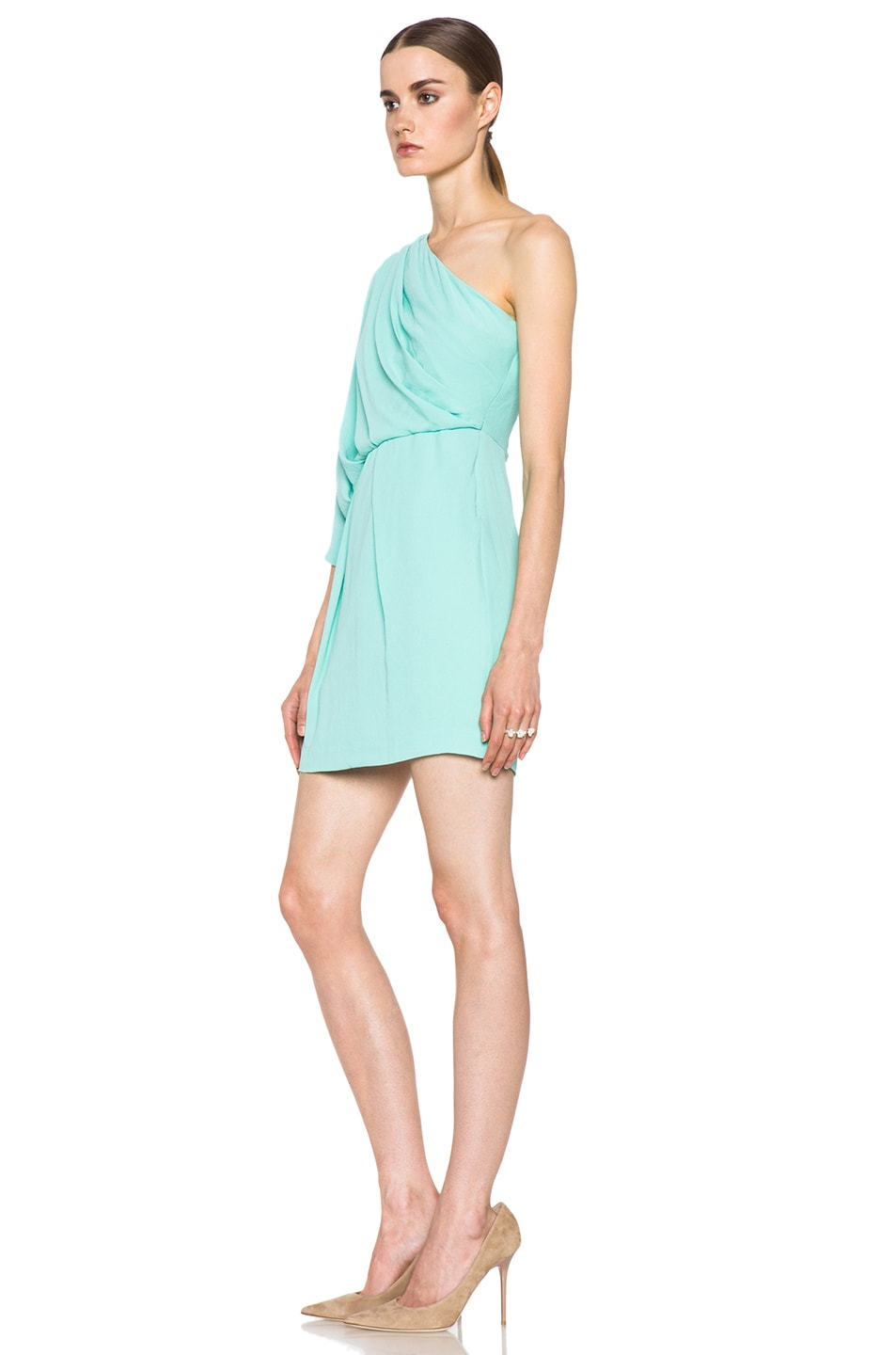 Image 2 of Diane von Furstenberg Akela Mini Dress in New Jade