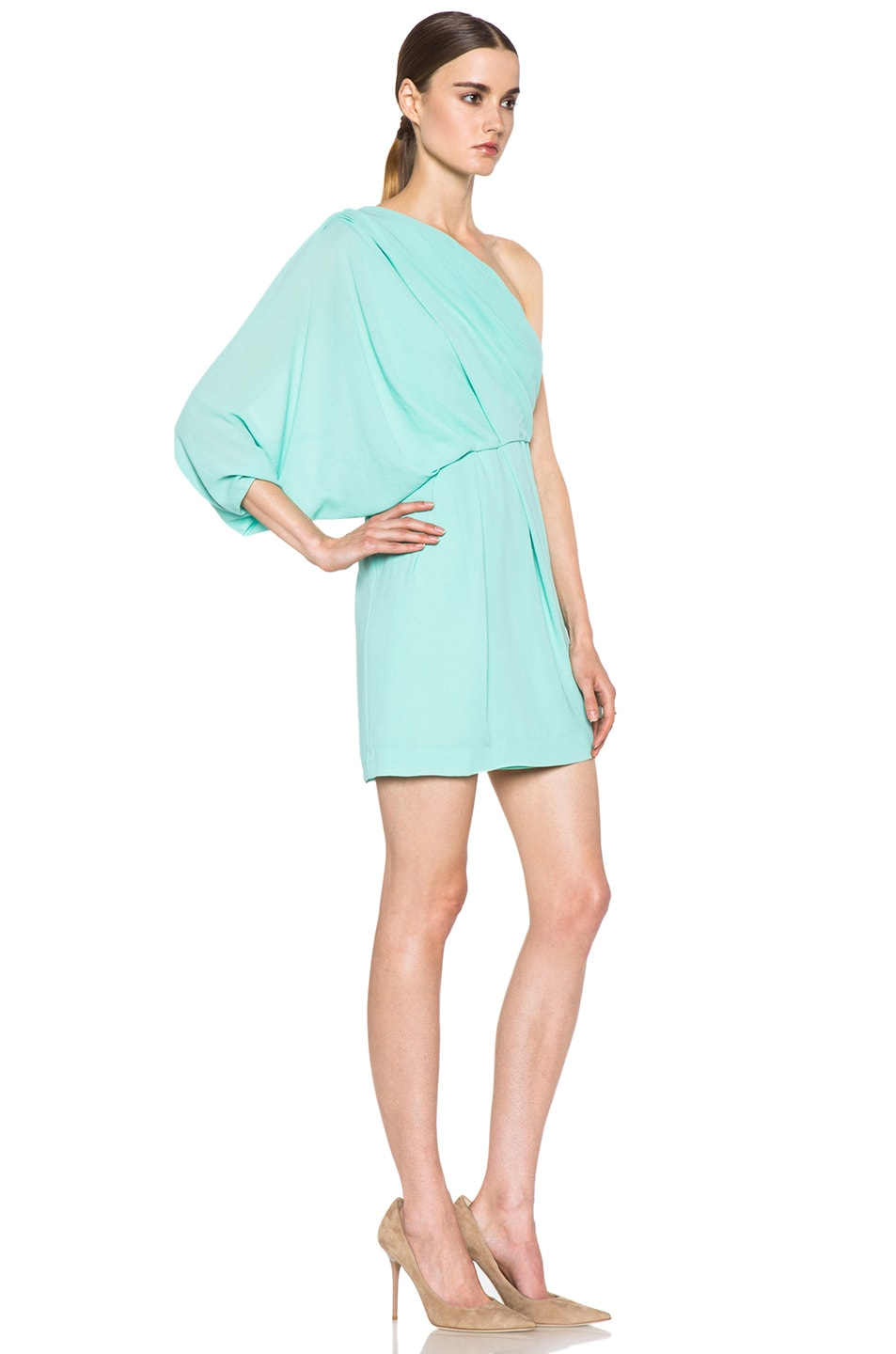Image 3 of Diane von Furstenberg Akela Mini Dress in New Jade