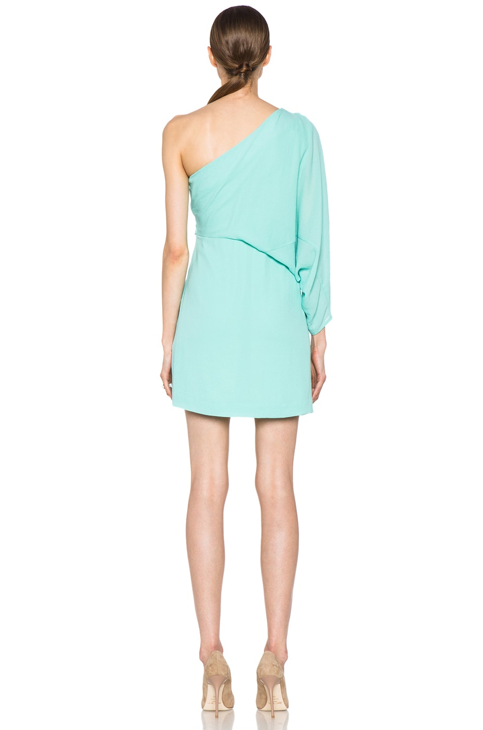Image 4 of Diane von Furstenberg Akela Mini Dress in New Jade