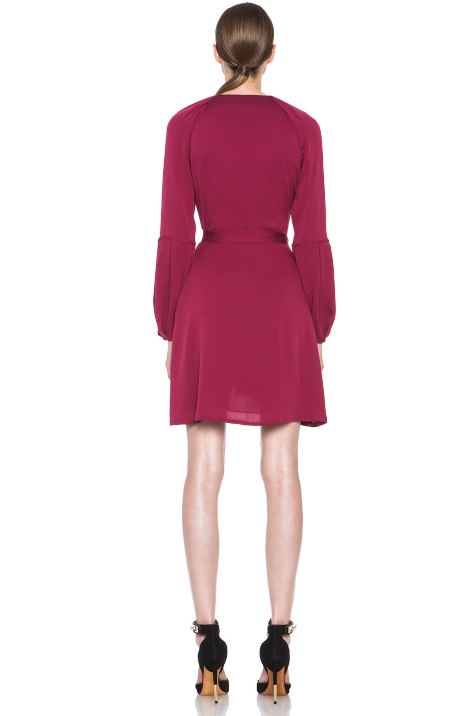 Image 4 of Diane von Furstenberg Weslee Silk Dress in Dark Cherry