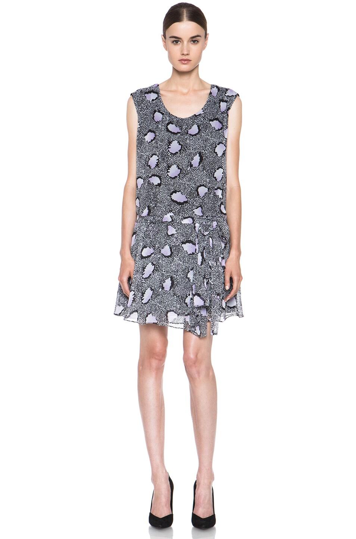 Image 1 of Diane von Furstenberg Janey Silk Dress in Cheetah Island Ombre Lavender