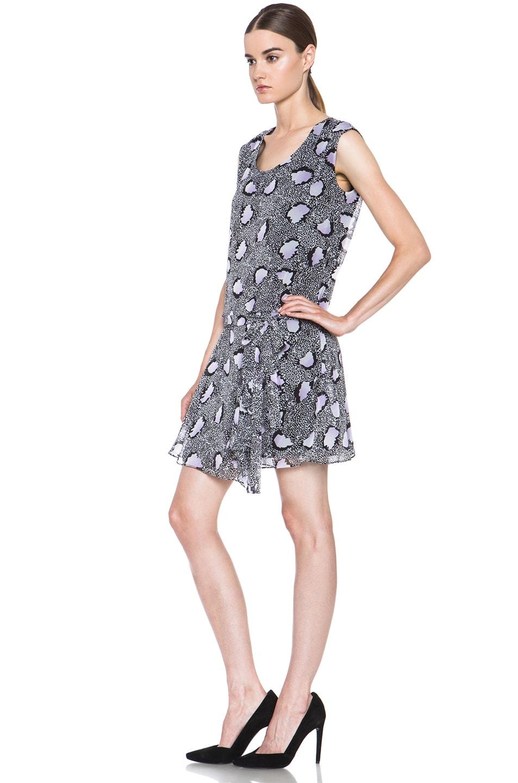 Image 2 of Diane von Furstenberg Janey Silk Dress in Cheetah Island Ombre Lavender