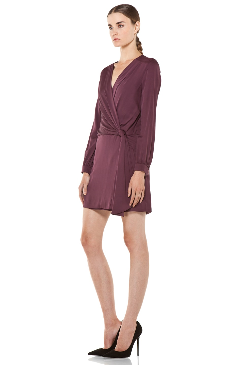 Image 2 of Diane von Furstenberg Dora Dress in Plum