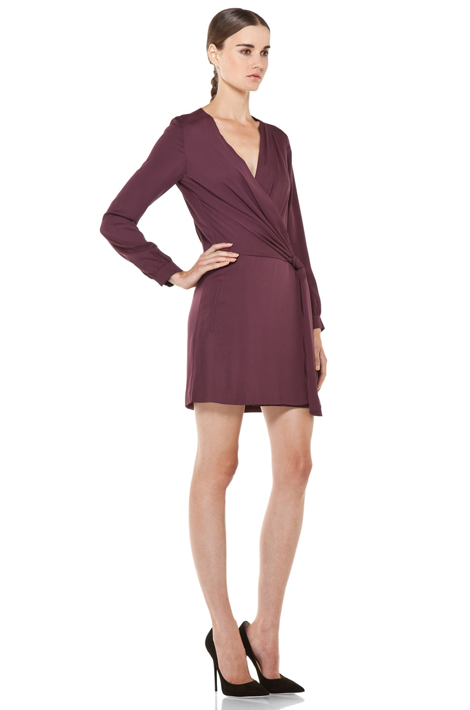 Image 3 of Diane von Furstenberg Dora Dress in Plum