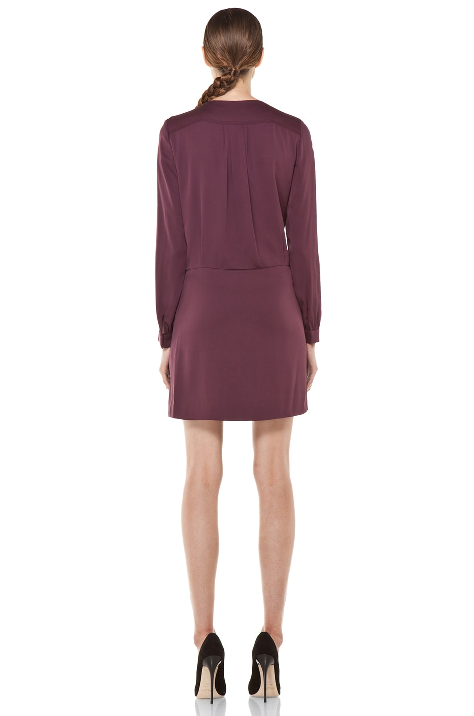 Image 4 of Diane von Furstenberg Dora Dress in Plum
