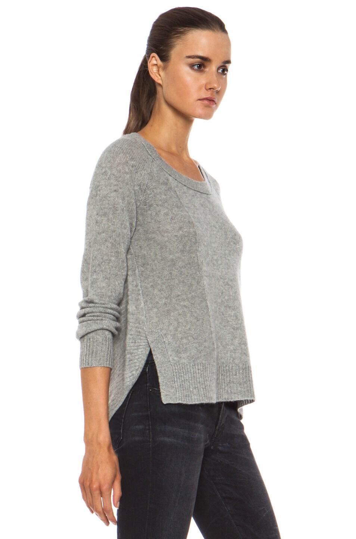 Image 3 of Diane von Furstenberg Ivory Cashmere Sweater in Heather Grey