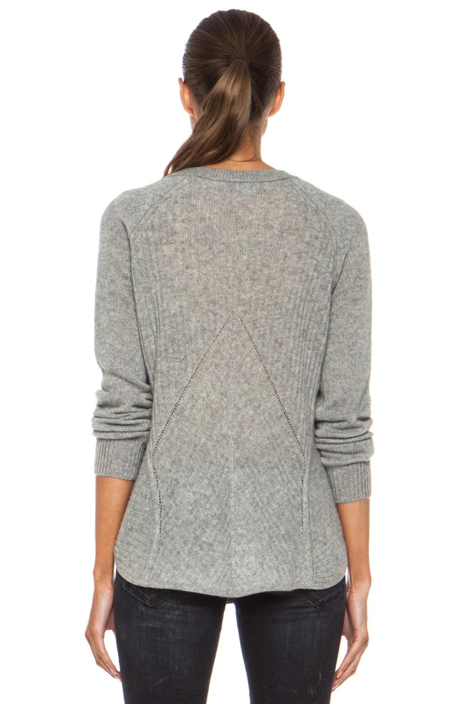 Image 4 of Diane von Furstenberg Ivory Cashmere Sweater in Heather Grey