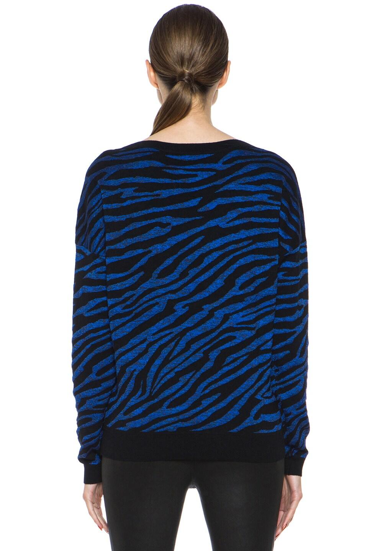Image 4 of Diane von Furstenberg Estelle Sweater in Black & Tanzanite Blue