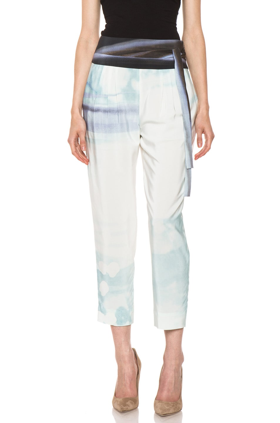Image 1 of Diane von Furstenberg Keaka Silk Pants in Ethereal