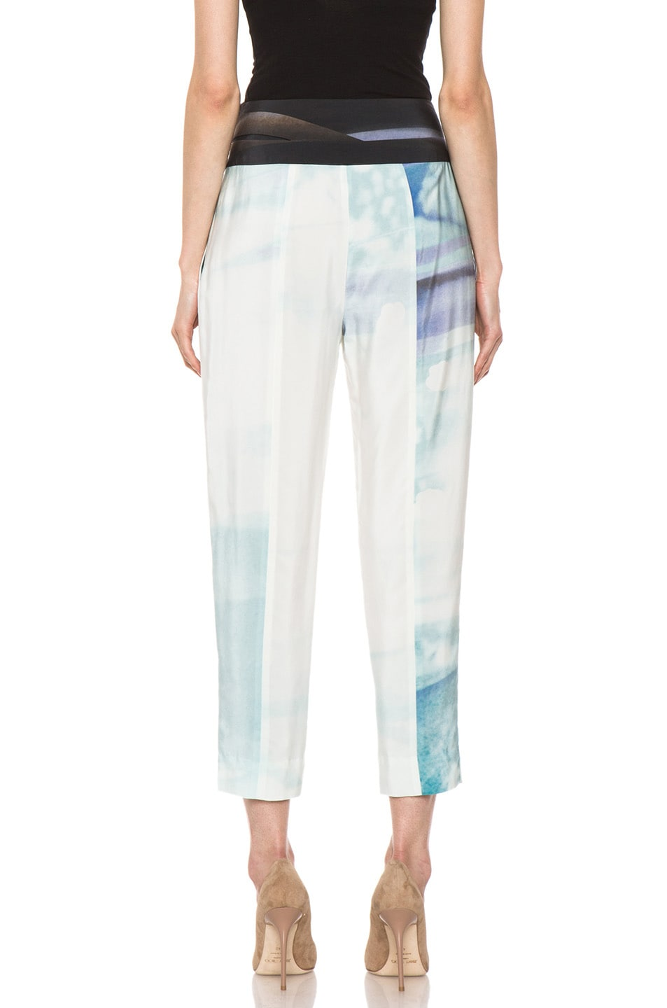 Image 4 of Diane von Furstenberg Keaka Silk Pants in Ethereal