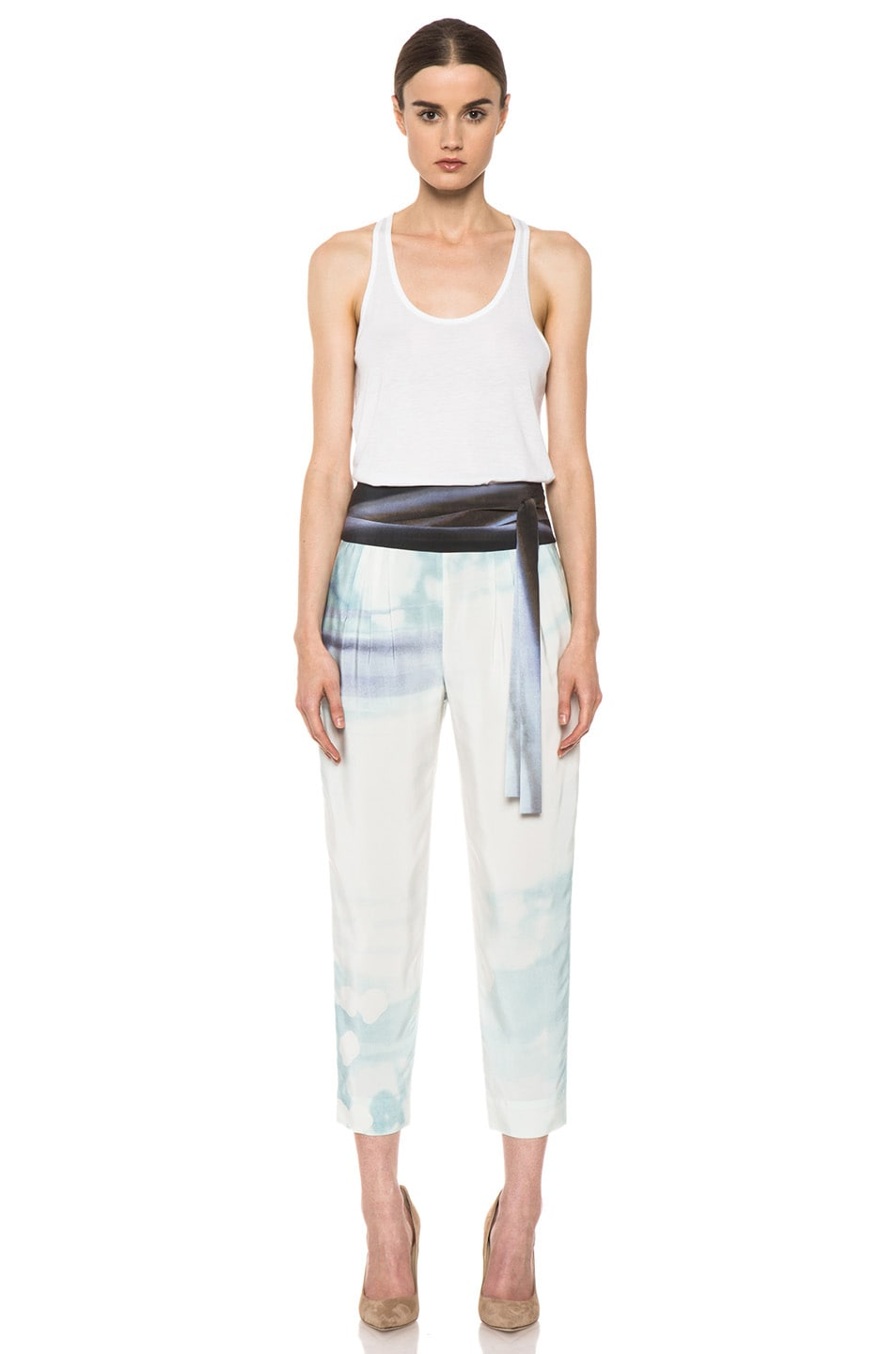 Image 5 of Diane von Furstenberg Keaka Silk Pants in Ethereal