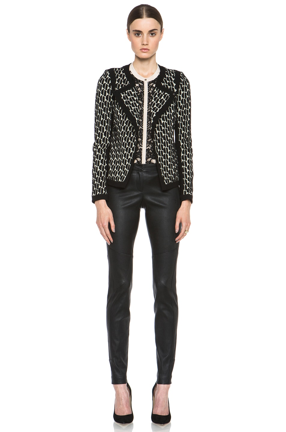 Image 5 of Diane von Furstenberg Liberty Leather Pant in Black