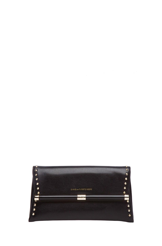 Image 1 of Diane von Furstenberg 440 Envelope Clutch in Black
