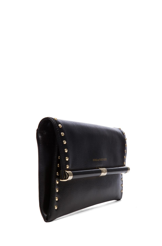 Image 3 of Diane von Furstenberg 440 Envelope Clutch in Black