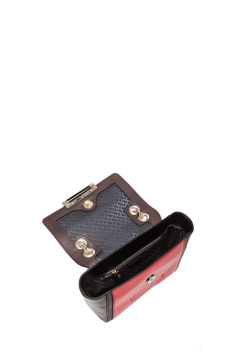 Image 4 of Diane von Furstenberg Mini 440 Leo Haircalf and Leather Bag in Leopard & Paprika
