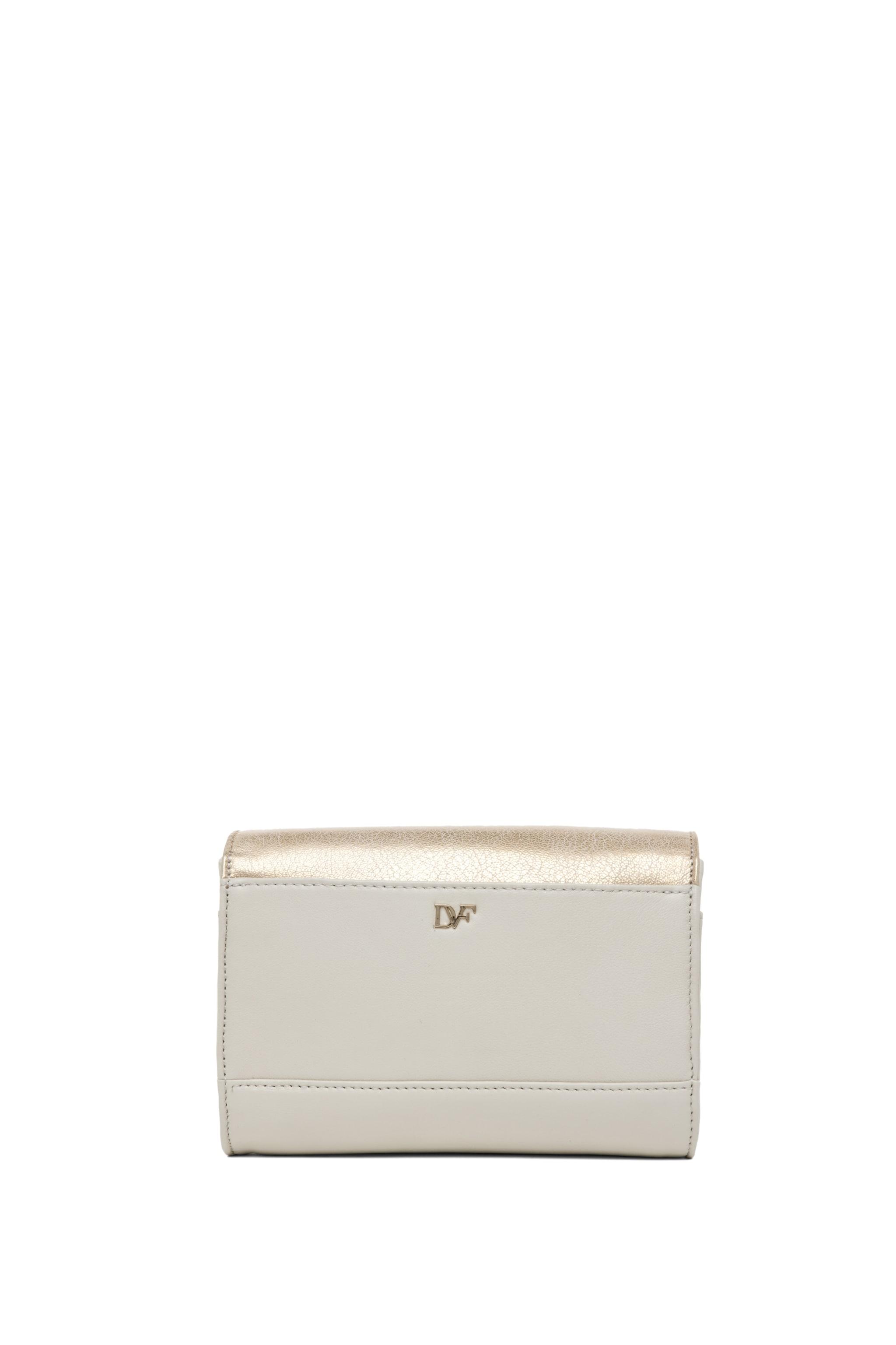 Image 2 of Diane von Furstenberg Lips Mini Soft Metallic in Light Gold