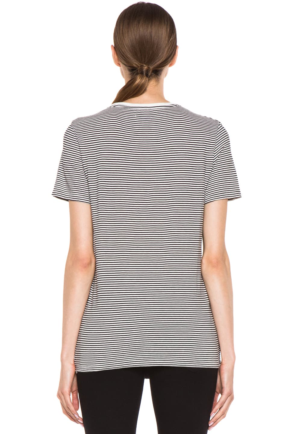Image 5 of EACH x OTHER Washed Striped Tee in White & Black